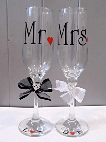 Champagne Toast Glasses